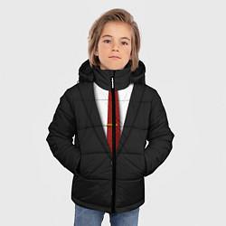 Куртка зимняя для мальчика Агент 47 цвета 3D-черный — фото 2