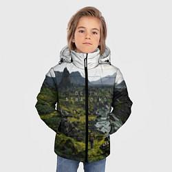 Куртка зимняя для мальчика Death Stranding: Green World цвета 3D-черный — фото 2