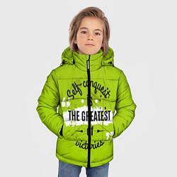 Куртка зимняя для мальчика The greatest цвета 3D-черный — фото 2