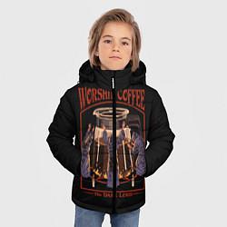 Куртка зимняя для мальчика Worship Coffee цвета 3D-черный — фото 2