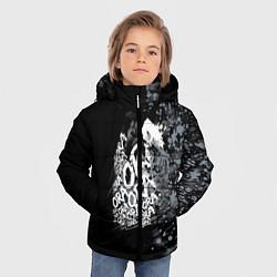 Куртка зимняя для мальчика JoJo цвета 3D-черный — фото 2