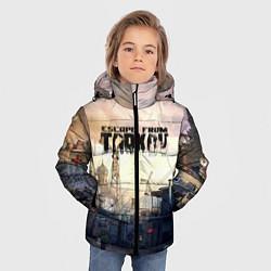 Куртка зимняя для мальчика Escape From Tarkov цвета 3D-черный — фото 2