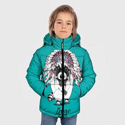 Куртка зимняя для мальчика Brave and Free цвета 3D-черный — фото 2