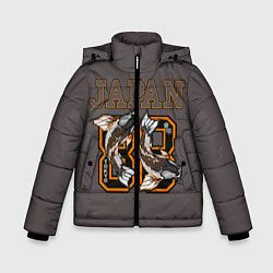 Детская зимняя куртка для мальчика с принтом Japan 88, цвет: 3D-черный, артикул: 10172525506063 — фото 1