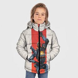 Куртка зимняя для мальчика Apex Legends: Pathfinder цвета 3D-черный — фото 2