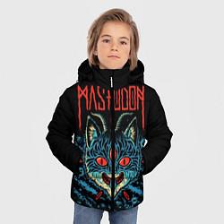 Куртка зимняя для мальчика Mastodon: Demonic Cat цвета 3D-черный — фото 2