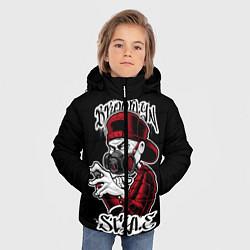 Куртка зимняя для мальчика Brooklyn Style цвета 3D-черный — фото 2