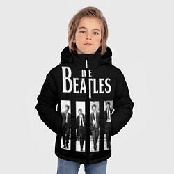 Куртка зимняя для мальчика The Beatles: Black Side цвета 3D-черный — фото 2