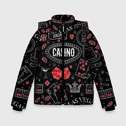 Куртка зимняя для мальчика Casino цвета 3D-черный — фото 1