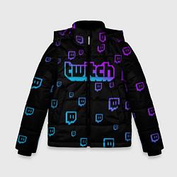 Куртка зимняя для мальчика Twitch: Neon Style цвета 3D-черный — фото 1