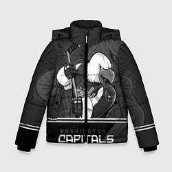 Детская зимняя куртка для мальчика с принтом Washington Capitals: Mono, цвет: 3D-черный, артикул: 10178513306063 — фото 1