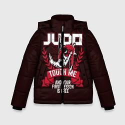 Куртка зимняя для мальчика Judo: Touch Me цвета 3D-черный — фото 1