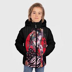 Детская зимняя куртка для мальчика с принтом Гейша, цвет: 3D-черный, артикул: 10180372906063 — фото 2