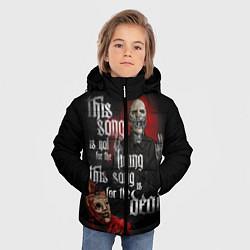 Куртка зимняя для мальчика Slipknot: This Song цвета 3D-черный — фото 2