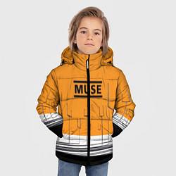 Куртка зимняя для мальчика Muse: Orange Mood цвета 3D-черный — фото 2