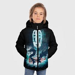 Куртка зимняя для мальчика Бог быстрой янтарной реки цвета 3D-черный — фото 2
