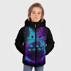 Куртка зимняя для мальчика Милый Тоторо цвета 3D-черный — фото 2