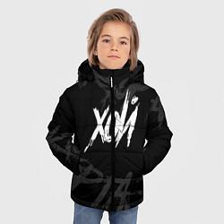 Куртка зимняя для мальчика Сектор Газа - ХОЙ цвета 3D-черный — фото 2