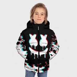 Куртка зимняя для мальчика MARSHMELLO GLITCH цвета 3D-черный — фото 2