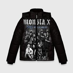 Детская зимняя куртка для мальчика с принтом Monsta X, цвет: 3D-черный, артикул: 10186735506063 — фото 1