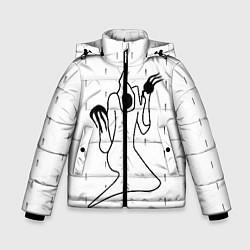 Куртка зимняя для мальчика KIZARU - Karmageddon цвета 3D-черный — фото 1