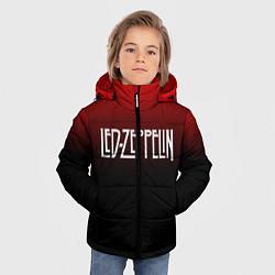 Куртка зимняя для мальчика Led Zeppelin цвета 3D-черный — фото 2