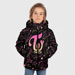 Куртка зимняя для мальчика TWICE АВТОГРАФЫ цвета 3D-черный — фото 2