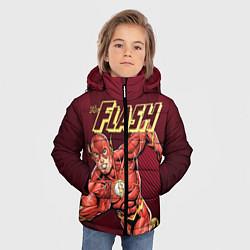 Куртка зимняя для мальчика The Flash цвета 3D-черный — фото 2