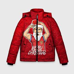 Куртка зимняя для мальчика Новогодний Дзюба Russia цвета 3D-черный — фото 1