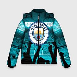 Детская зимняя куртка для мальчика с принтом Manchester City, цвет: 3D-черный, артикул: 10199738306063 — фото 1