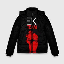 Куртка зимняя для мальчика ЕГОР КРИД TEAM цвета 3D-черный — фото 1