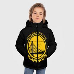Куртка зимняя для мальчика GOLDEN STATE WARRIORS цвета 3D-черный — фото 2