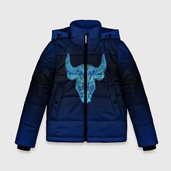 Куртка зимняя для мальчика Знаки Зодиака Телец цвета 3D-черный — фото 1