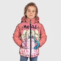 Куртка зимняя для мальчика Harley Quinn Mad love цвета 3D-черный — фото 2