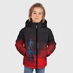 Куртка зимняя для мальчика Скриптонит цвета 3D-черный — фото 2