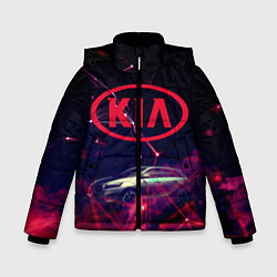 Куртка зимняя для мальчика КIA цвета 3D-черный — фото 1