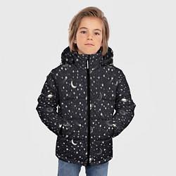 Куртка зимняя для мальчика Космос цвета 3D-черный — фото 2