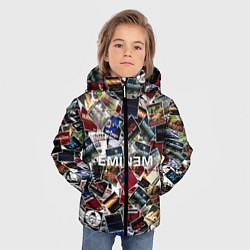 Куртка зимняя для мальчика Дискография EMINEM цвета 3D-черный — фото 2