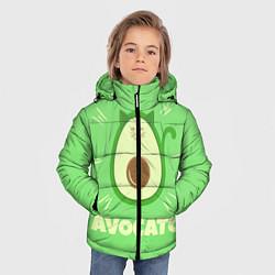 Куртка зимняя для мальчика Авокато цвета 3D-черный — фото 2