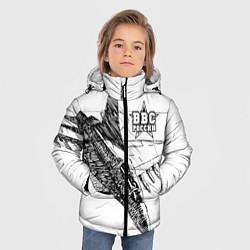 Куртка зимняя для мальчика ВВС России цвета 3D-черный — фото 2