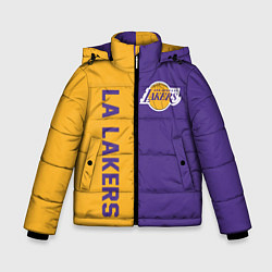 Куртка зимняя для мальчика LA LAKERS цвета 3D-черный — фото 1