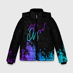 Куртка зимняя для мальчика Виктор Цой цвета 3D-черный — фото 1