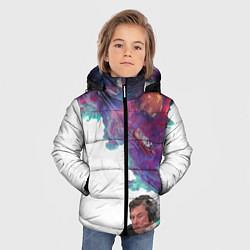 Куртка зимняя для мальчика Илон Маск курит космос цвета 3D-черный — фото 2