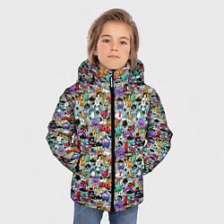 Куртка зимняя для мальчика Stickerboom цвета 3D-черный — фото 2
