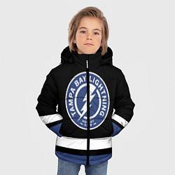 Куртка зимняя для мальчика Тампа-Бэй Лайтнинг цвета 3D-черный — фото 2