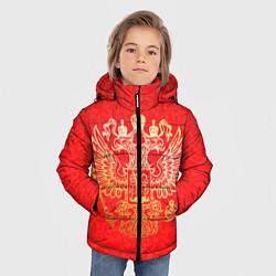 Куртка зимняя для мальчика Герб цвета 3D-черный — фото 2
