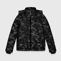Куртка зимняя для мальчика ГОРОДСКОЙ КАМУФЛЯЖ цвета 3D-черный — фото 1