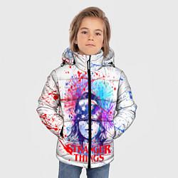 Куртка зимняя для мальчика STRANGER THINGS цвета 3D-черный — фото 2