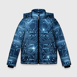 Куртка зимняя для мальчика Системная плата цвета 3D-черный — фото 1