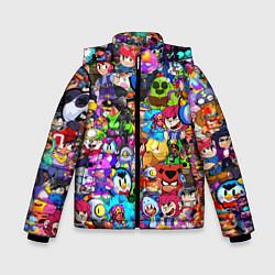 Куртка зимняя для мальчика BRAWL STATS ВСЕ ПЕРСОНАЖИ цвета 3D-черный — фото 1